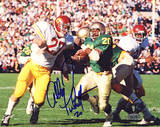 Allen Pinkett ND Run vs USC Autographed Photo (Hand Signed Collectable) Photo