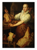 The Cook by Vincenzo Campi 1536-91 Italian Premium Giclee Print by Vincenzo Campi