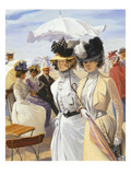 Two Elegant Women, from Promenade on the Dyke at Ostend, Detail Giclee Print by Carl Hermann Kuechler