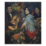 The Singing Woman, or La Juerga, C. 1905 Giclee Print by Gonzalo Bilbao Y Martinez