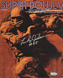 Leeroy Jordan Super Bowl V Program Cover Fotografa