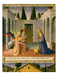 The Annunciation, Predella of Cassone (Large Chest) for Silverware (Armadio Degli Argenti) Giclee Print by Fra Angelico