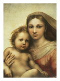 The Sistine Madonna, Madonna and Child with Pope Sixtus II and Saint Barbara, C. 1512 Reproduction procédé giclée par  Raphael
