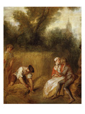 Harvesting, from Summer, 1738, Detail Giclee Print by Nicolas Lancret