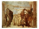Achilles Fighting Agamemnon, Fresco Giclee Print by Giambattista Tiepolo
