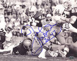 Joe Morris 1979 Run vs Navy Autographed Photo (Hand Signed Collectable) Photo