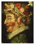 La Primavera (Spring), 1573 (Detail) Giclee Print by Giuseppe Arcimboldo