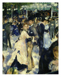 Couples Dancing, from Bal Du Moulin De La Galette, Dance at Moulin De La Galette, Paris, 1876 Giclee Print by Pierre-Auguste Renoir