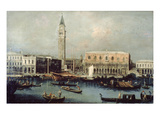 View of Doge's Palace and Grand Canal Venice, 18th Century Giclee Print by Michele Marieschi