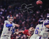 Phil Simms Signed vs San Francisco 49ers Photo