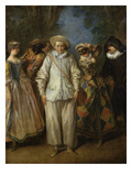 Actors from the Com&#233;die Italienne, Undated Giclee Print by Nicolas Lancret