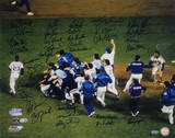 NY Mets 1986 Team Signed Team Celebration Photo