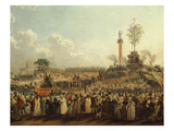 Festival of the Supreme Being (Fete De L'Etre Supreme), Champ De Mars, Paris, France Giclee Print by Pierre Antoine Demachy