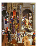 Jesus before Pontius Pilate and Flagellation, Passion of Christ, Detail Giclee Print by Hans Memling