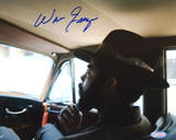 Walt Frazier Sitting In Car Horizontal Signed Foto