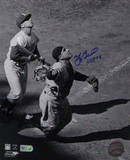 Yogi Berra Signed Mask Flip w/ HOF 1972 insc Photo