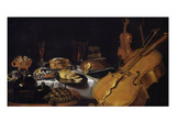 Still Life with Musical Instruments, 1623 Giclee Print by Pieter Claesz