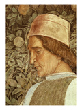 Groom, Fresco, Camera Degli Sposi (Detail of Head) Giclee Print by Andrea Mantegna