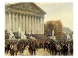 Le Palais Du Corps Législatif Après La Séance Du 4 Septembre 1870 Giclee Print by Jacques Guiaud