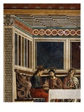 Last Supper Detail of Apostles Matthew, Philip and Thomas, Fresco C1444-50 Giclee Print by Andrea Del Castagno