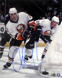 Adrian Aucoin Behind Net Autographed Photo (Hand Signed Collectable) Photo