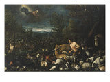 The Condemnation of Adam by God Giclee Print by Jacopo Bassano
