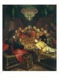 Das letzte Abendmahl Giclée-Druck von Otto Van Veen