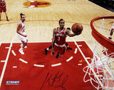 Brandon Jennings Shoots Against Chicago Bulls Signed Fotografía