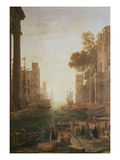 Embarkation at Ostia 1600-82 Giclee Print by Claude Lorrain