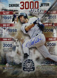 Derek Jeter 'Road to 3000' Signed Vertical Collage Photo