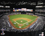 Derek Jeter/Mariano Rivera/Andy Pettitte/Jorge Posada Signed Stadium View Photo
