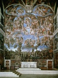 Last Judgement, 1536-41, Fresco, Sistine Chapel, Vatican, Rome Photographic Print by  Michelangelo Buonarroti