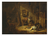 Rustic Kitchen, Interior Giclee Print by Willem Kalf