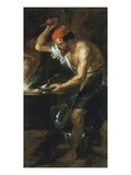 Vulcan at Forge 1636-40 181X97Cm Giclee Print by Sir Peter Paul Rubens
