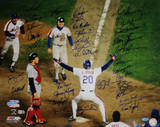 NY Mets 1986 Team Signed Howard Johnson at Home Plate Photo