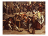 Musicians, from Fête in an Inn, 1674 (Detail) Giclee Print by Jan Steen