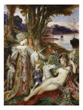 The Unicorns, 1887-88 Giclee Print by Gustave Moreau