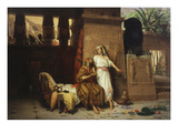 Abraham and Wife Sarah at Court of Pharaoh 1875 Giclee Print by Giovanni Muzzioli