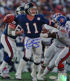 Phil Simms Signed vs Denver Broncos Photographie