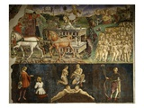 The Triumph of Apollo, the Month of May, Fresco from the Room of the Months Giclee Print by Francesco del Cossa