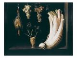 Still Life with Cardoon, Grapes, Irises and Francolin, 1628 Giclee Print by Felipe Ramirez