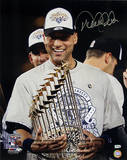 Derek Jeter with 2009 World Series Trophy Photo