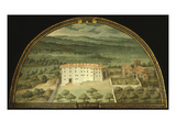 Monte Viturino, Tuscany, Italy, from Series of Lunettes of Tuscan Villas, 1599-1602 Giclee Print by Giusto Utens