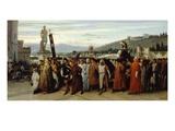 I Funerali Di Buondelmonte (Funeral of Buondelmonte), 1860 Giclee Print by Saverio Altamura