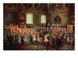 Lit De Justice - Réunion Du Parlement De Paris Le 22 Février 1723 Giclee Print by Nicolas Lancret