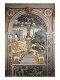 Goddess Artemis of Ephesus; Above, Zodiac Sign of Leo, Fresco, 1520 Giclee Print by Giovanni M Falconetto (Attr to)
