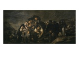 Pilgrimage or Festival of San Isidro, 1810-23 Black Painting 140X438Cm, Detail Giclee Print by Francisco de Goya