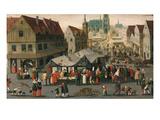 Market Place Giclee Print by Hendrik Van Steenwyk