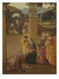 Holy Family, from the Adoration of the Magi, the Nativity and the Annunciation to the Shepherds Giclee Print by  Florentine School