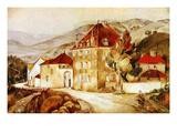 Bourgogne Landscape, 1921 Giclee Print by Henry De Waroquier